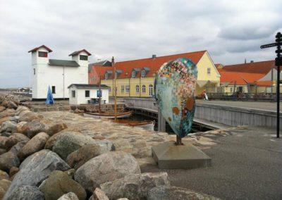 Board walk and clam art